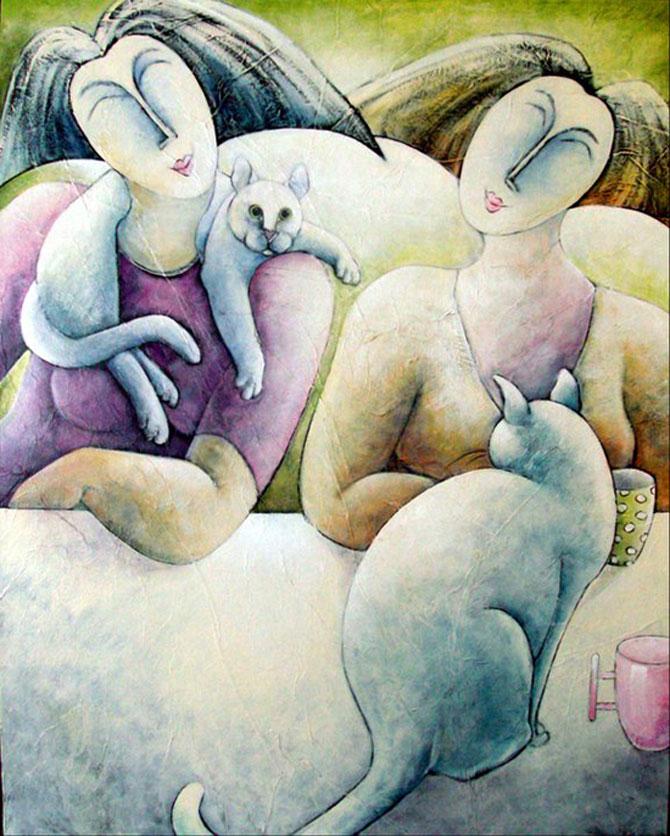 Pisici, femei in stil cubist, cu Carla Raadsveld - Poza 5