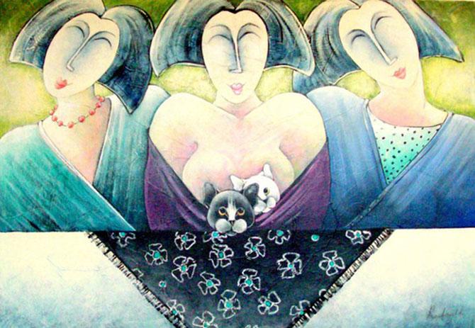 Pisici, femei in stil cubist, cu Carla Raadsveld - Poza 6
