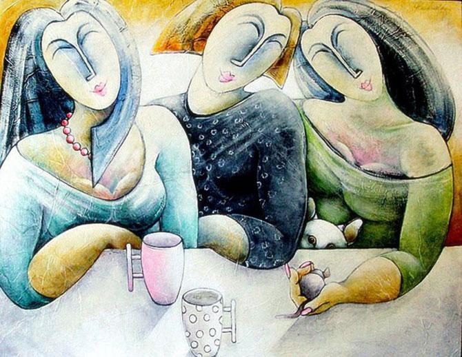 Pisici, femei in stil cubist, cu Carla Raadsveld - Poza 7