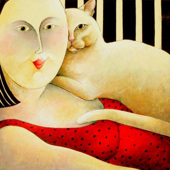 Pisici, femei in stil cubist, cu Carla Raadsveld - Poza 8