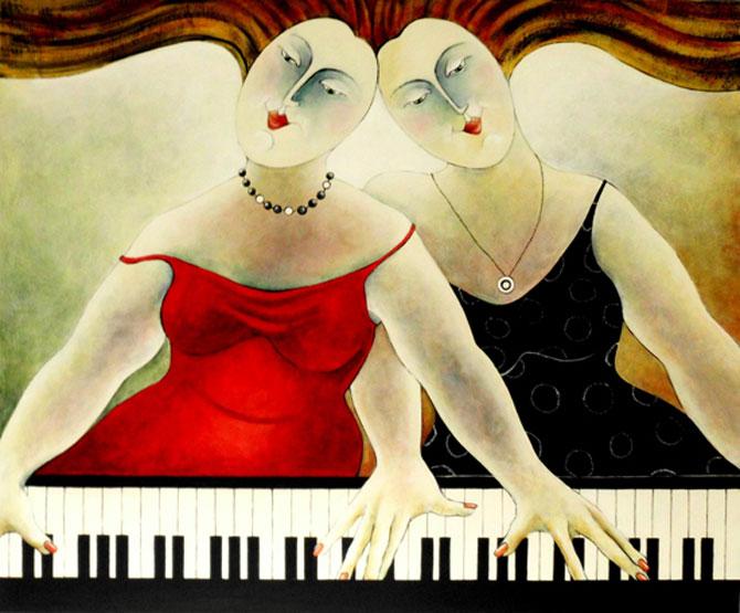Pisici, femei in stil cubist, cu Carla Raadsveld - Poza 10