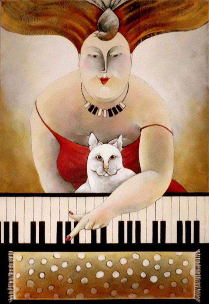 Pisici, femei in stil cubist, cu Carla Raadsveld - Poza 12