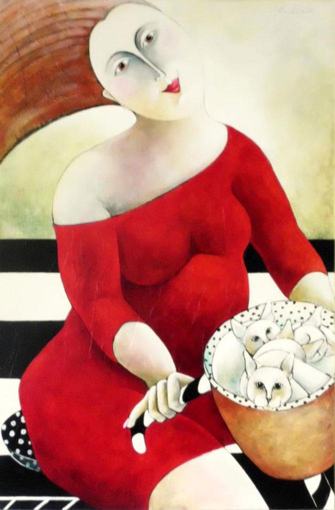 Pisici, femei in stil cubist, cu Carla Raadsveld - Poza 14