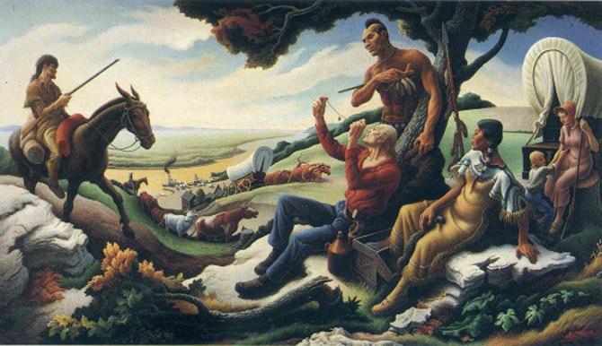 Fresca intregii Americi, de Thomas Hart Benton - Poza 4