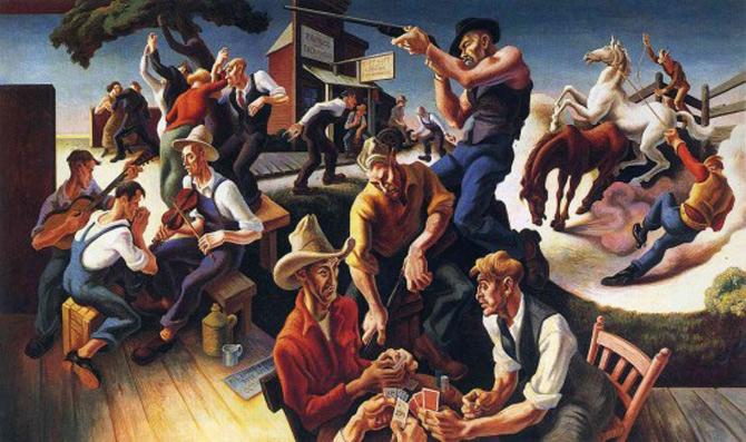 Fresca intregii Americi, de Thomas Hart Benton - Poza 7