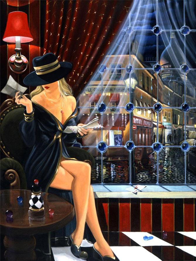 Film noir, pictat de Victor Ostrovski