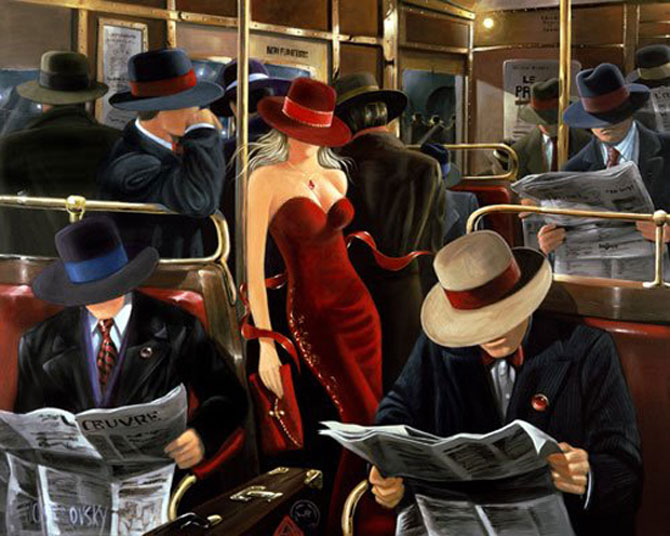 Film noir, pictat de Victor Ostrovski - Poza 13