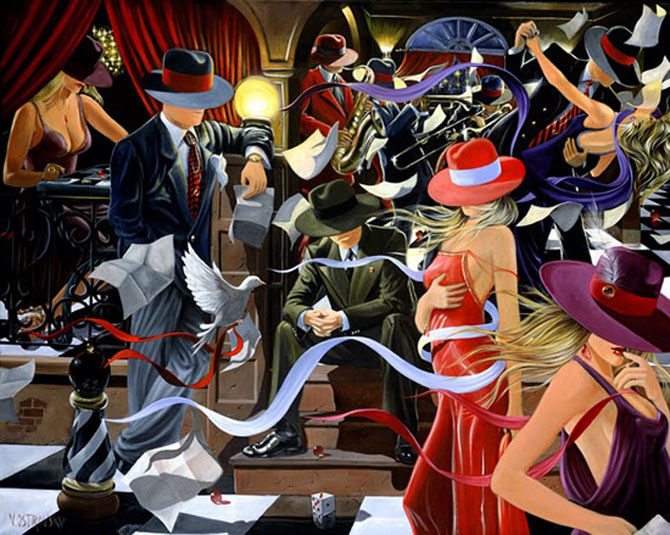 Film noir, pictat de Victor Ostrovski - Poza 14