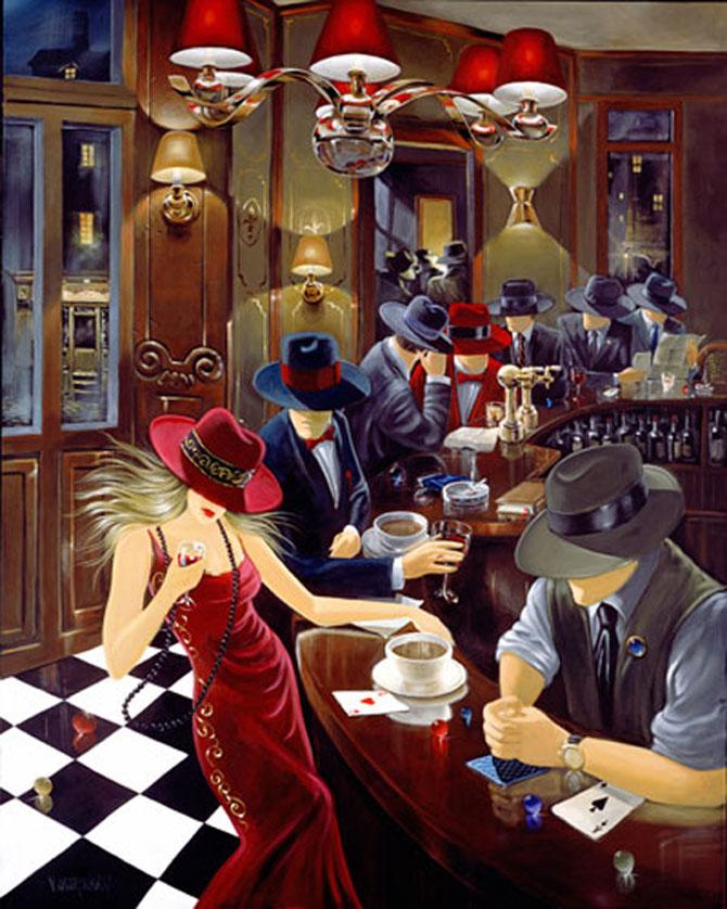 Film noir, pictat de Victor Ostrovski - Poza 15