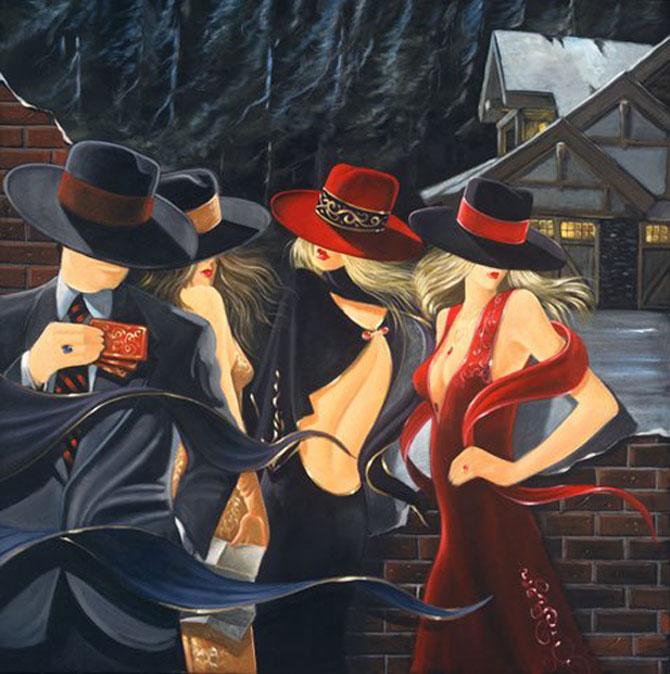 Film noir, pictat de Victor Ostrovski - Poza 16