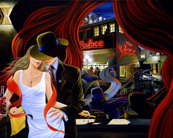 Film noir, pictat de Victor Ostrovski - Poza 17
