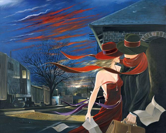 Film noir, pictat de Victor Ostrovski - Poza 18