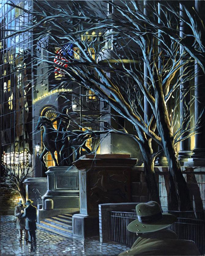 Film noir, pictat de Victor Ostrovski - Poza 20