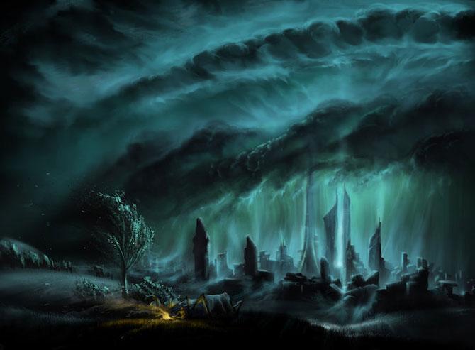 Ceruri spectaculoase, pictate de Alexander Rommel - Poza 4