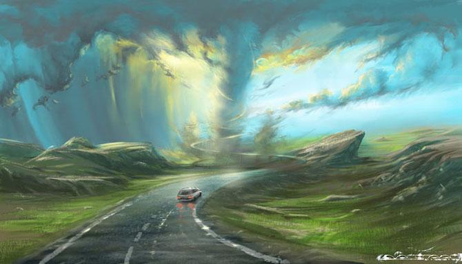 Ceruri spectaculoase, pictate de Alexander Rommel - Poza 5