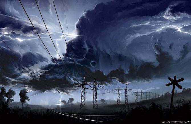 Ceruri spectaculoase, pictate de Alexander Rommel - Poza 7