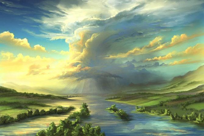 Ceruri spectaculoase, pictate de Alexander Rommel - Poza 8