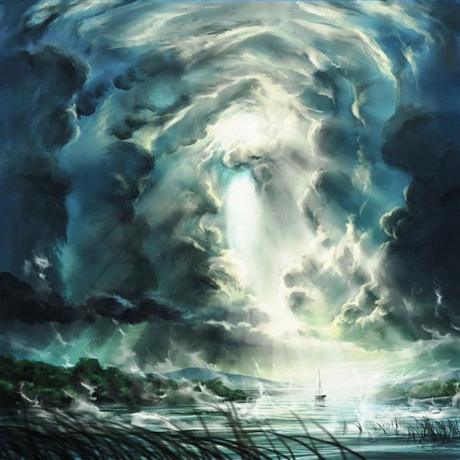 Ceruri spectaculoase, pictate de Alexander Rommel - Poza 9