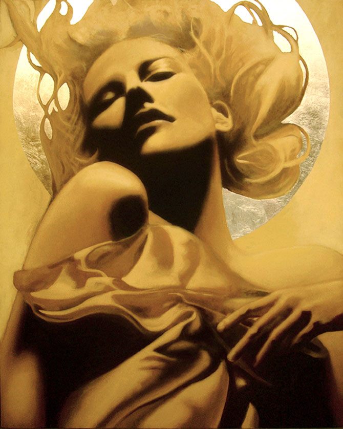 Femeia poleita in aur de 22k - Poza 1