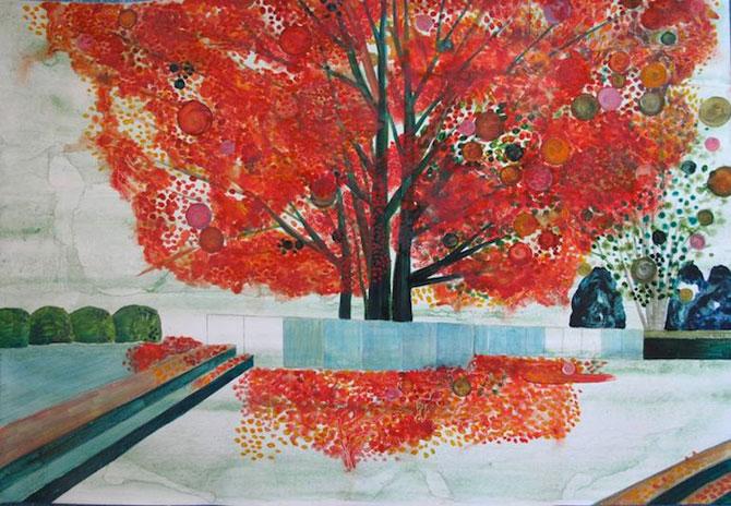 Peisaje delicate, pictate de Yukari Kahori - Poza 5
