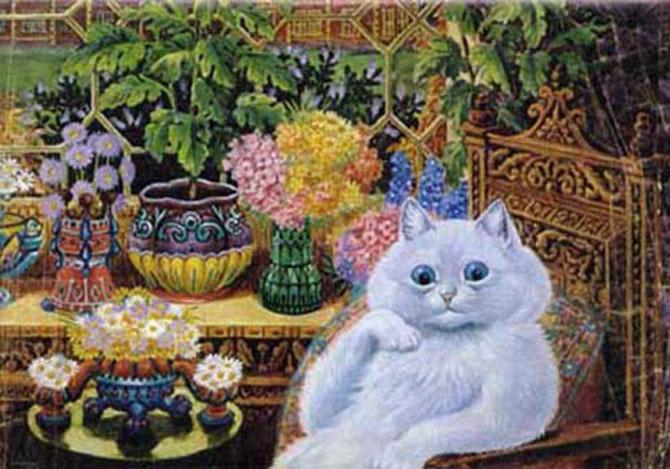Pisicile psihedelice pictate de Louis Wain - Poza 1