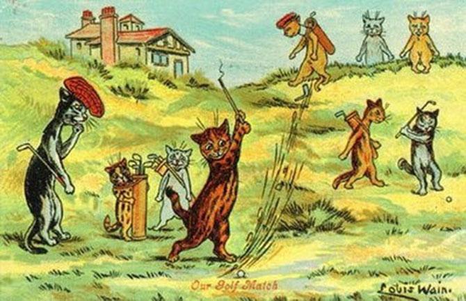 Pisicile psihedelice pictate de Louis Wain - Poza 2