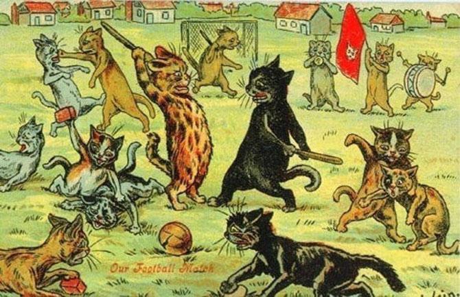 Pisicile psihedelice pictate de Louis Wain - Poza 3