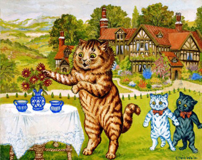 Pisicile psihedelice pictate de Louis Wain - Poza 4