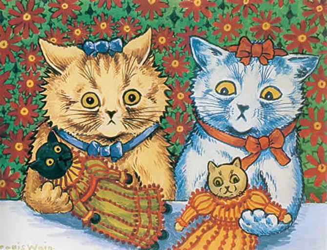 Pisicile psihedelice pictate de Louis Wain - Poza 5