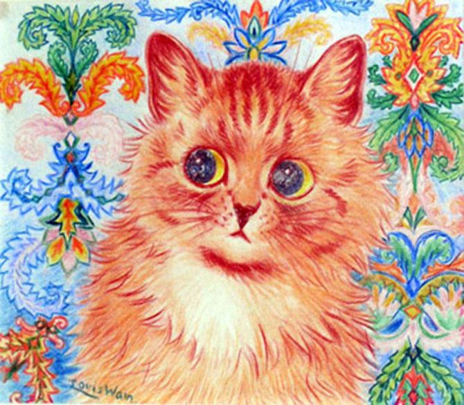 Pisicile psihedelice pictate de Louis Wain - Poza 6
