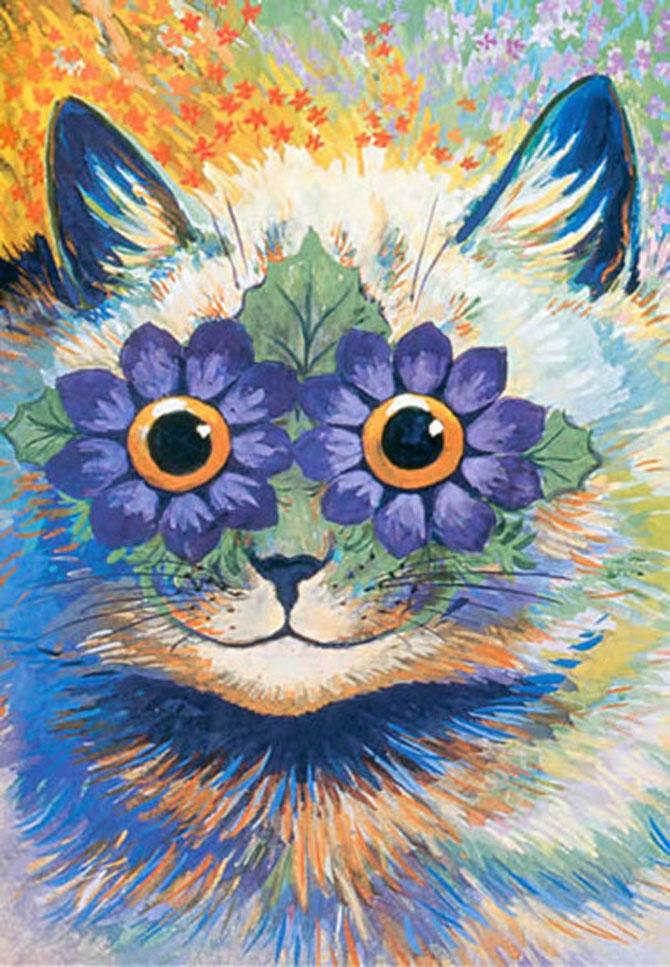 Pisicile psihedelice pictate de Louis Wain - Poza 7