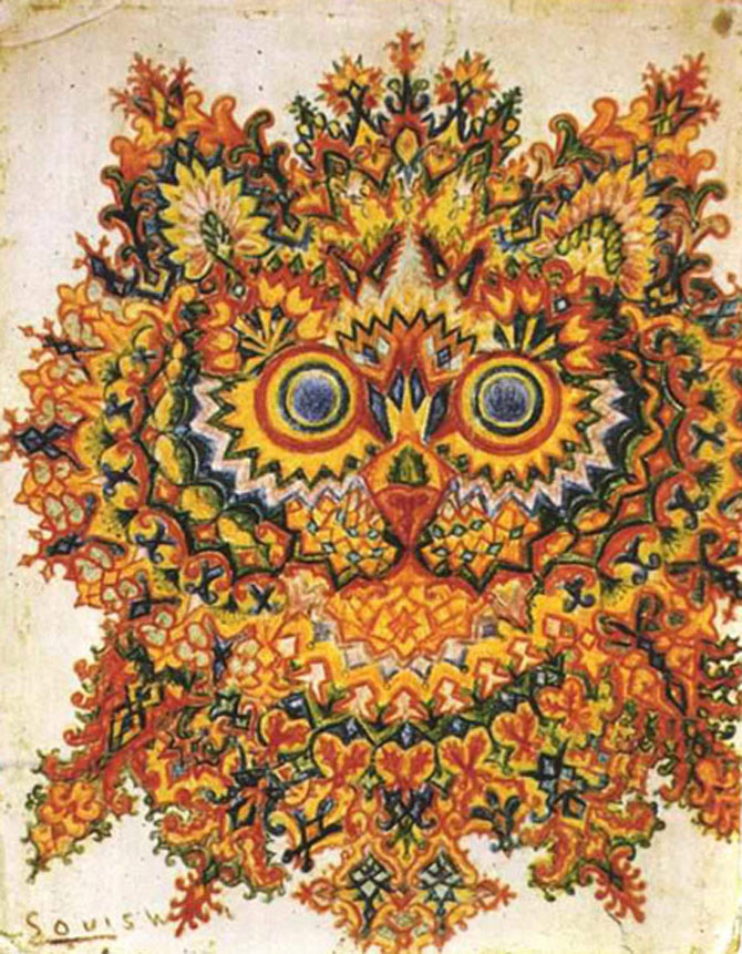 Pisicile psihedelice pictate de Louis Wain - Poza 8