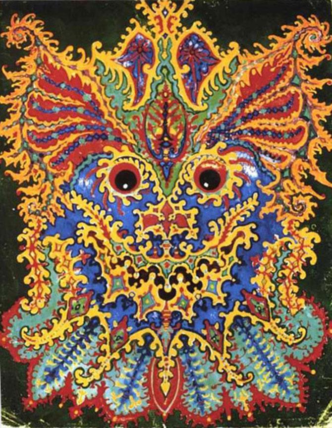 Pisicile psihedelice pictate de Louis Wain - Poza 10