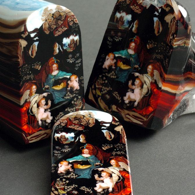 Loren Stump picteaza in sticla feliata - Poza 2