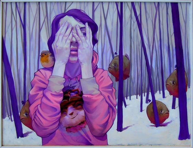 Picturi suprarealiste pe panza, de la Etam Cru - Poza 1