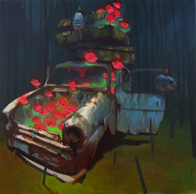 Picturi suprarealiste pe panza, de la Etam Cru - Poza 10