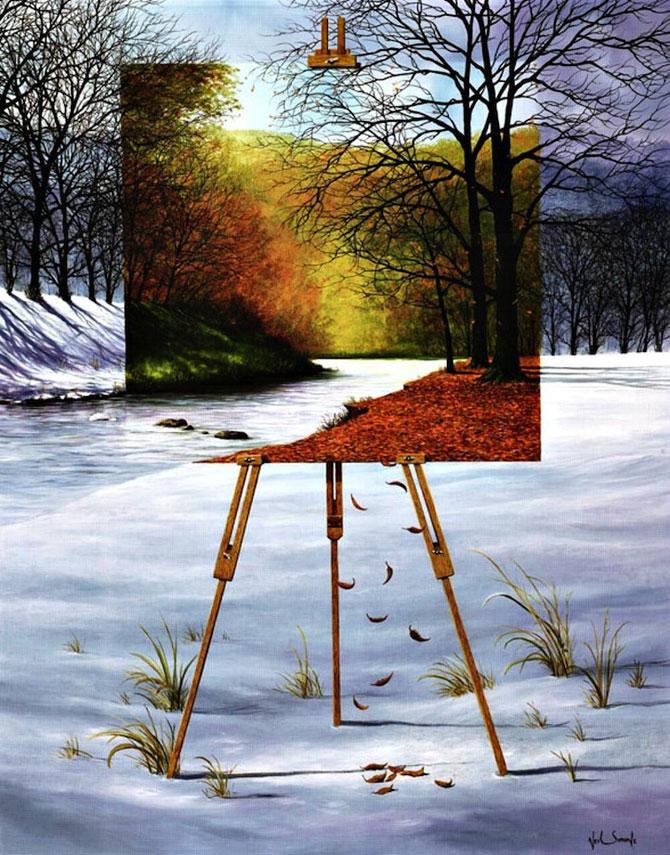 Intre vis si viata: Picturi suprarealiste de Neil Simone - Poza 1
