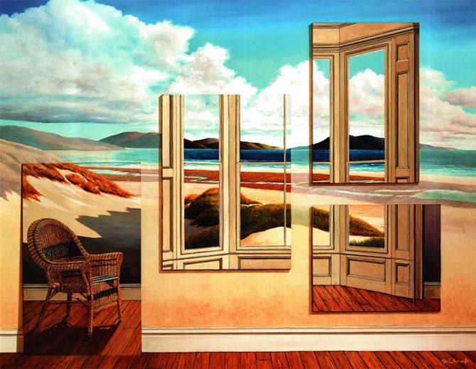 Intre vis si viata: Picturi suprarealiste de Neil Simone - Poza 2
