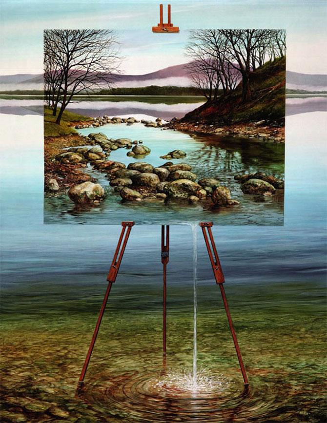 Intre vis si viata: Picturi suprarealiste de Neil Simone - Poza 10