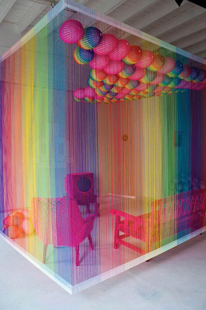 Camera curcubeu din sfori de Pierre le Riche - Poza 1