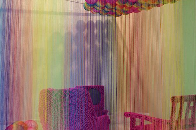 Camera curcubeu din sfori de Pierre le Riche - Poza 3