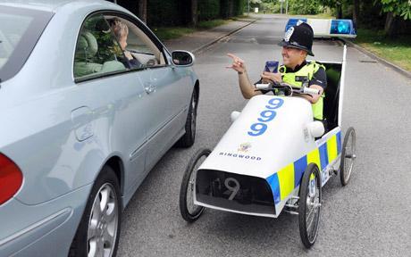 Masina de politie cu pedale - Poza 1