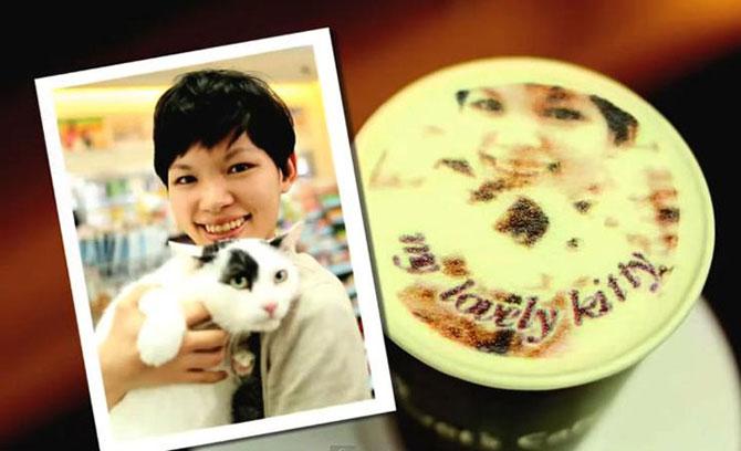 Reclama cu portrete in cafea in Taiwan - Poza 2