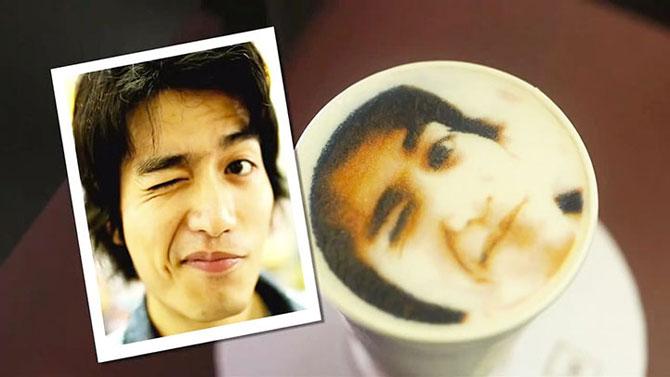 Reclama cu portrete in cafea in Taiwan - Poza 3