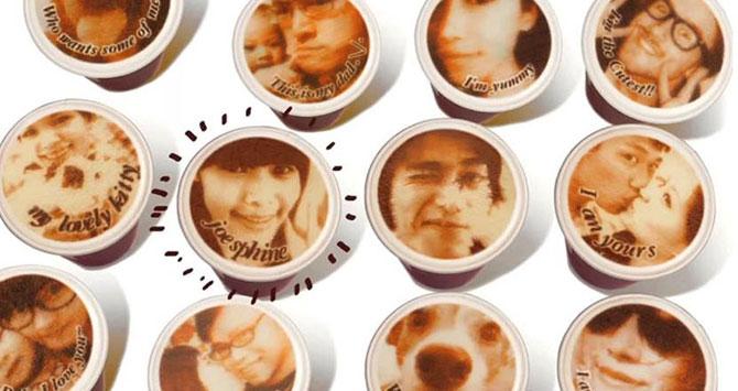 Reclama cu portrete in cafea in Taiwan - Poza 5
