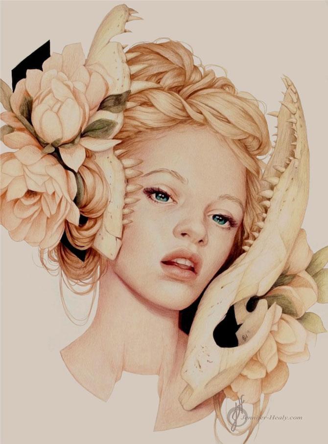Superbe portrete ilustrate, de Jennifer Healy - Poza 2