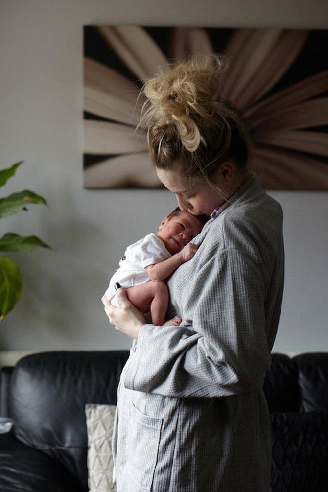 Emotie in portrete de mame cu bebelusi de o zi - Poza 7