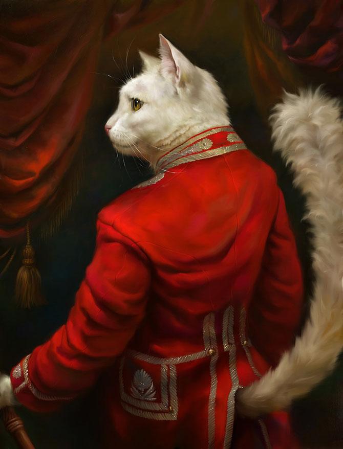 Pisici nobile, pictate de Eldar Zakirov - Poza 1