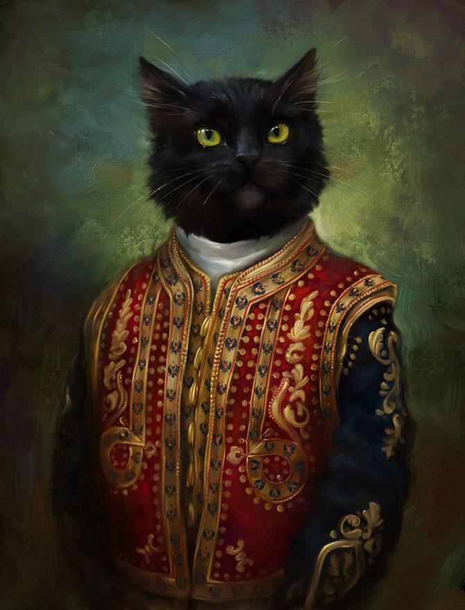 Pisici nobile, pictate de Eldar Zakirov - Poza 2