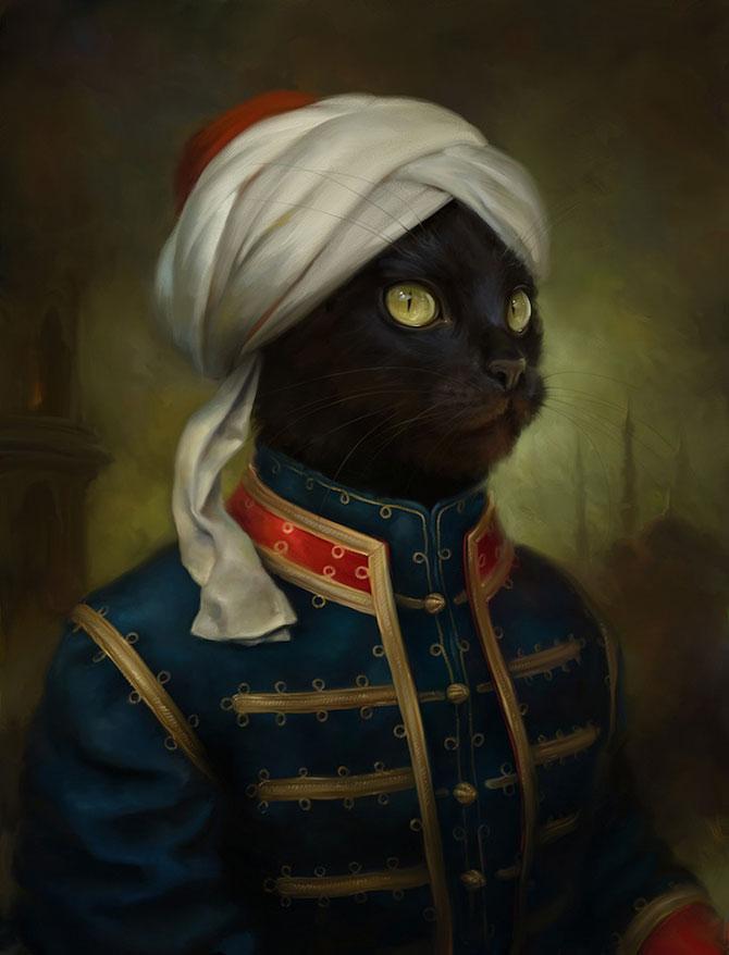 Pisici nobile, pictate de Eldar Zakirov - Poza 4